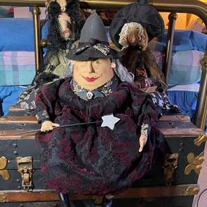 Lot # 301 - 3 Well Made Witch Dolls