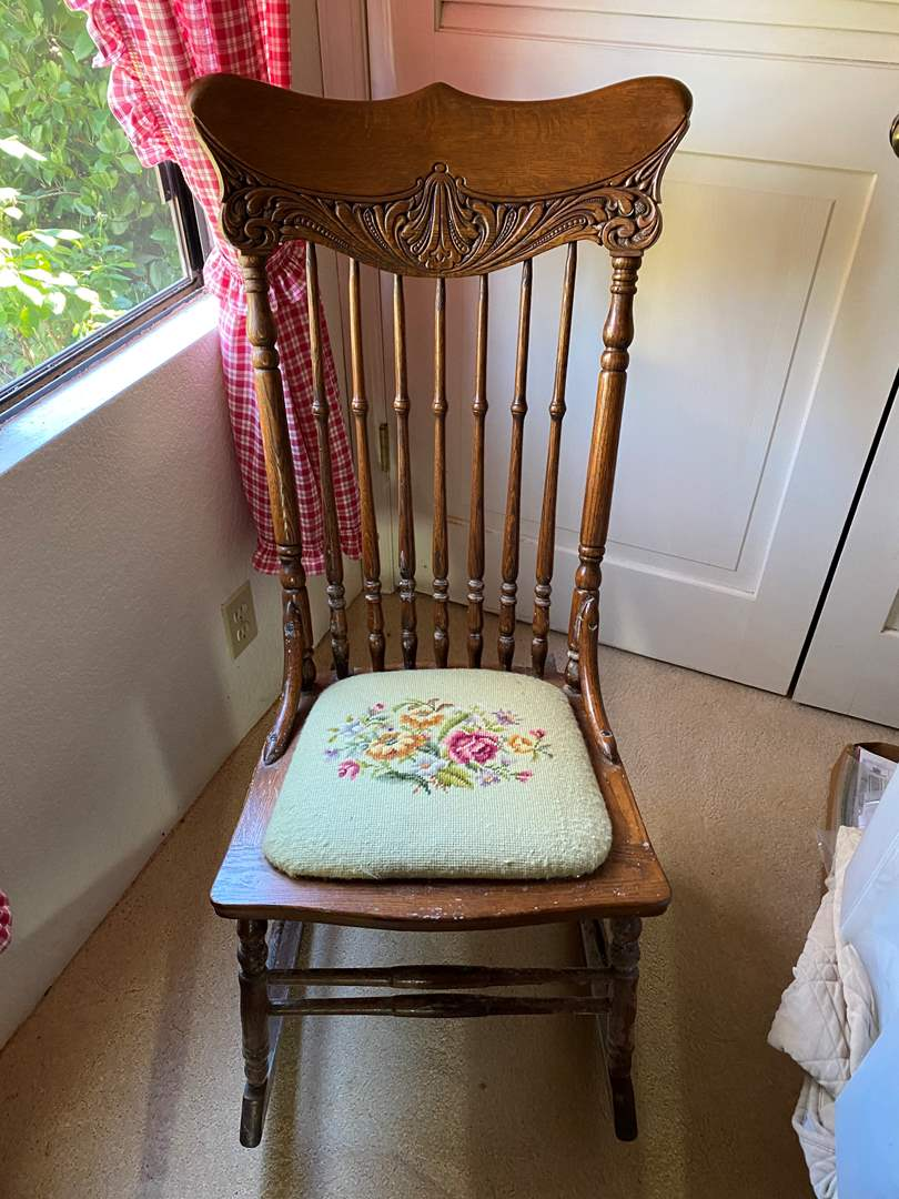 Lot # 307 - Antique Rocking Chair (main image)