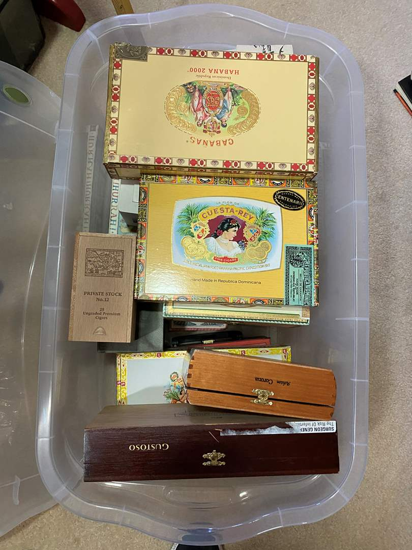 Lot # 309 - Cigar Boxes and others  (main image)