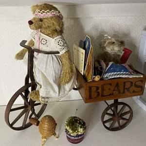 Lot # 319 - Bears & Cart