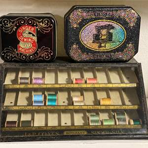 Lot # 325 - Antique Thread Sales Drawer