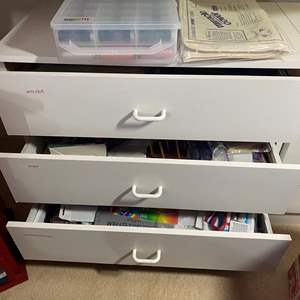 Lot # 331 - 3-Drawer Cabinet with Contents