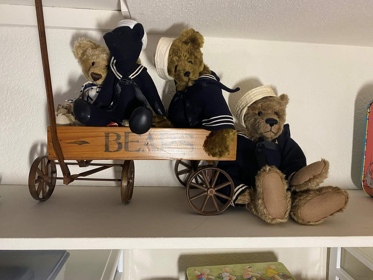 Lot # 334 - Sailor Bears in a Vintage Bear Cart (main image)