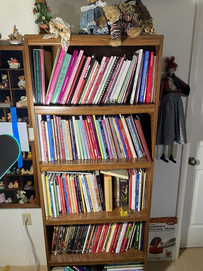 Lot # 337 - 6Ft Tall Bookcase Full of Art & Crafting Books (main image)