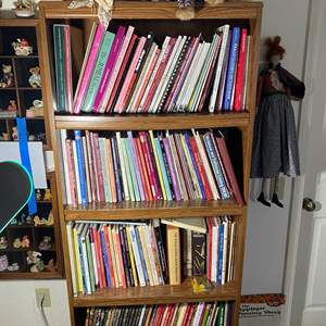 Lot # 337 - 6Ft Tall Bookcase Full of Art & Crafting Books
