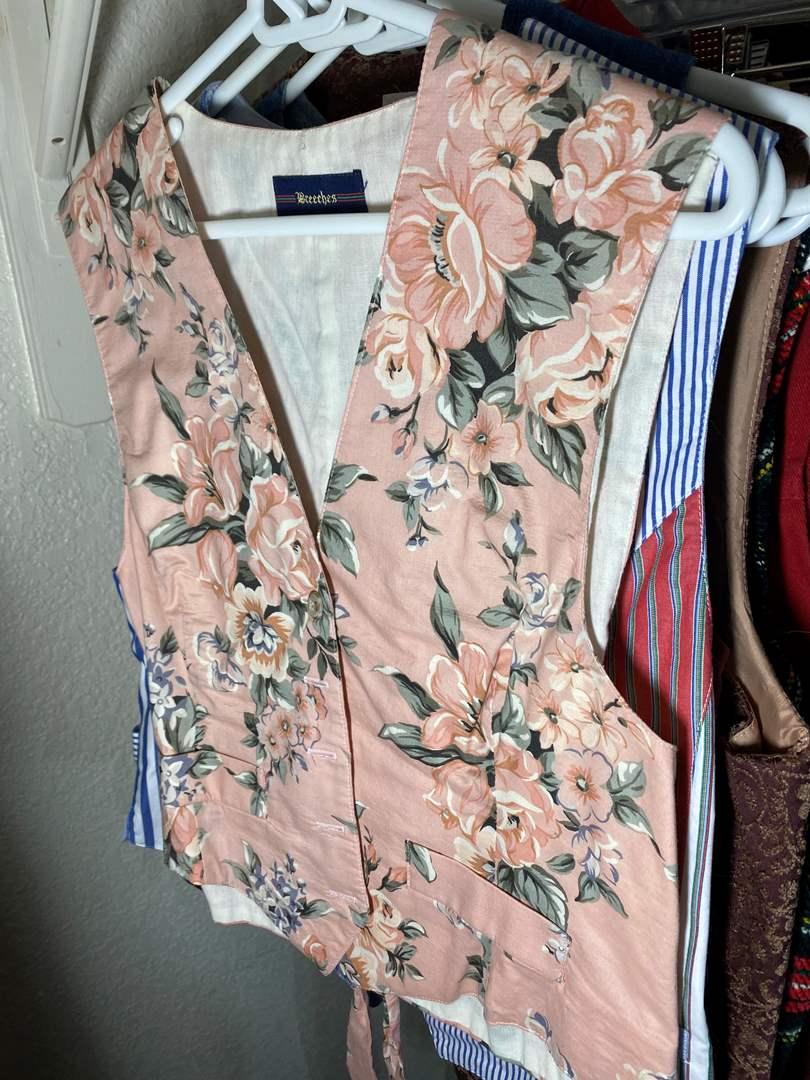 Lot # 344 - Vintage Fabric Vests (main image)