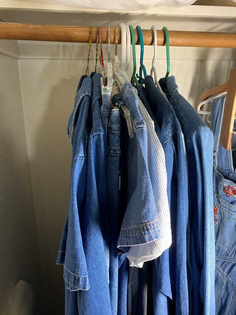 Lot # 346 - Denim Shirts, Jackets, Dresses (main image)