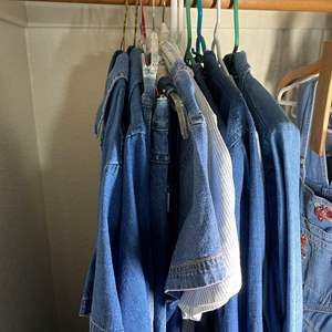 Lot # 346 - Denim Shirts, Jackets, Dresses