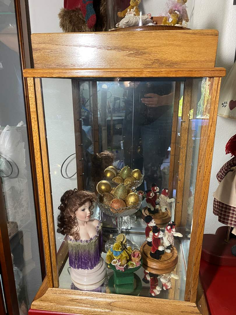 Lot # 357 - Display Case with Contents (main image)