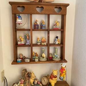 Lot # 368 - Disney Pooh items and Wall Shelf
