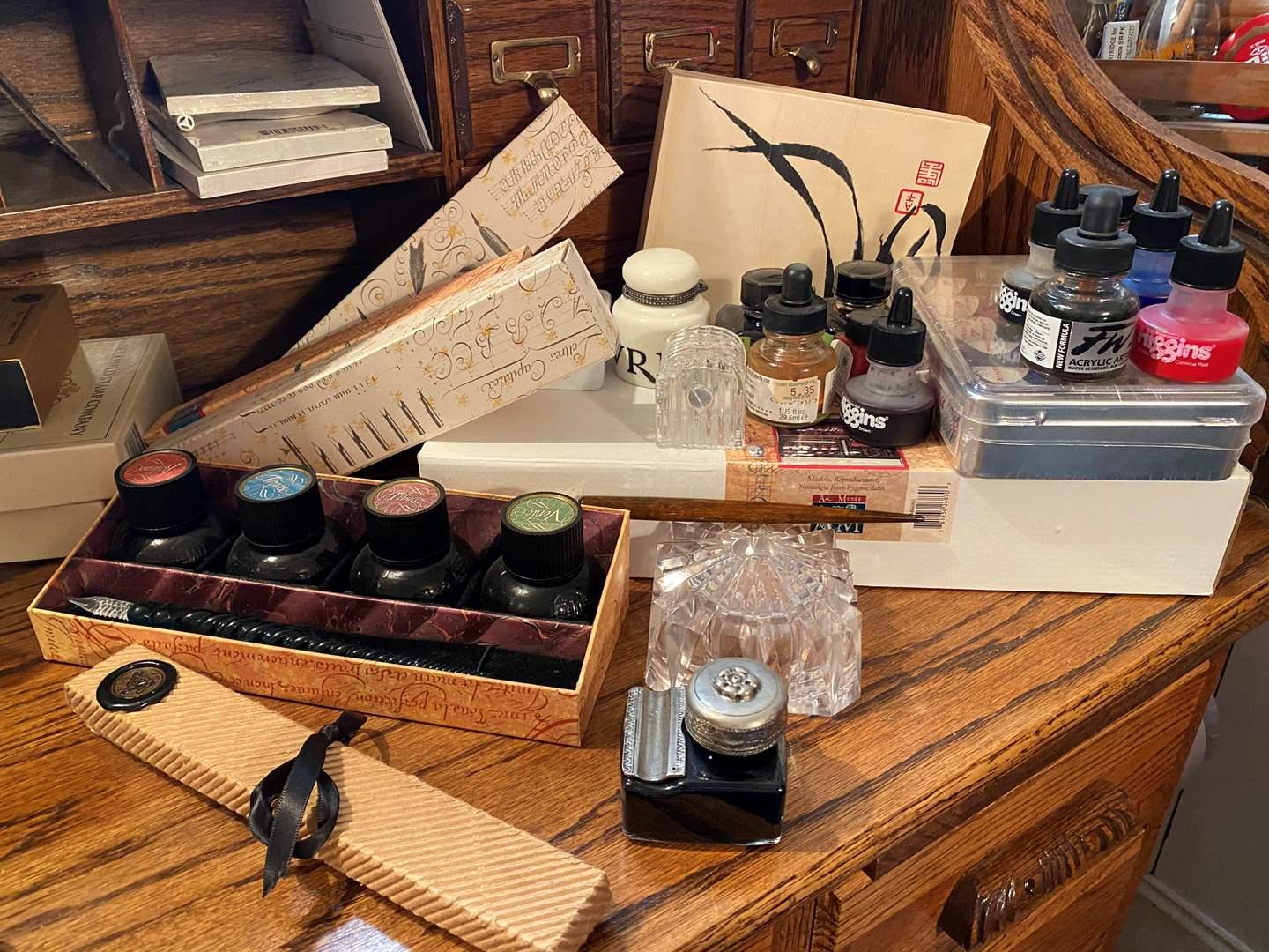 Lot # 377 - Calligraphy Tools and Accessories  (main image)
