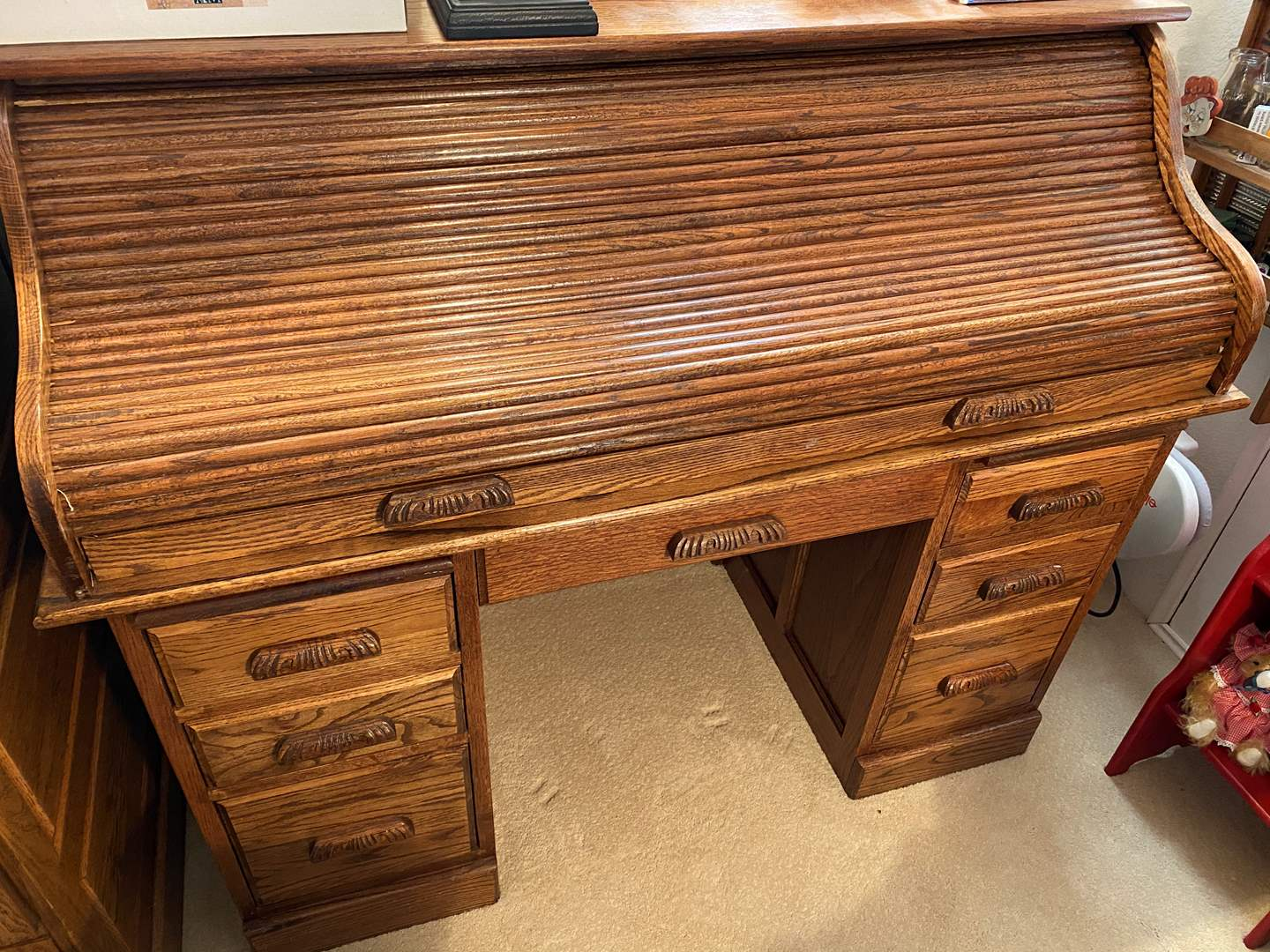 Lot # 378 - Rolltop Desk with Contents (main image)