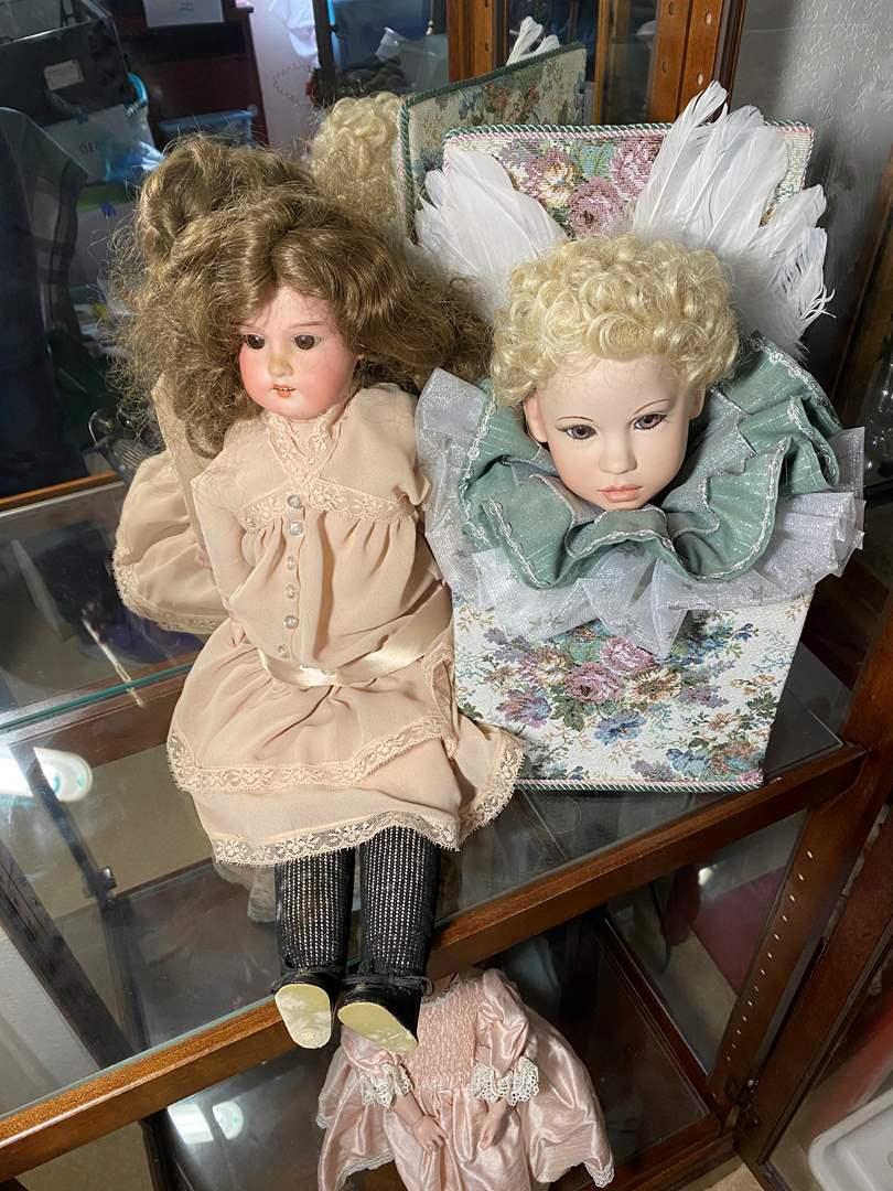 Lot # 388 - Vintage Doll & Hand Made Angel Doll (main image)