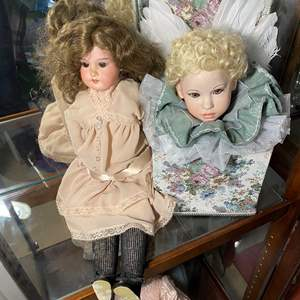 Lot # 388 - Vintage Doll & Hand Made Angel Doll