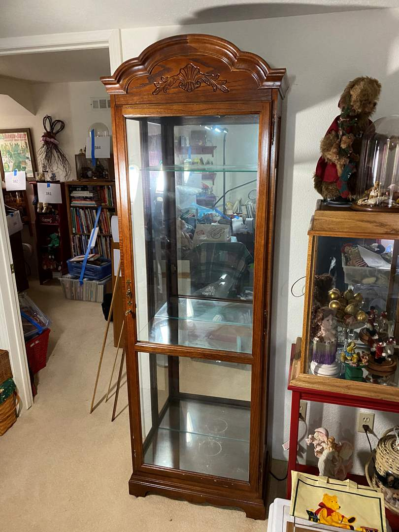 Lot # 390 - Display Case With Lock & Light (main image)