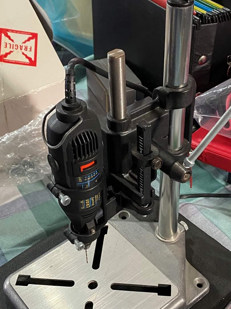 Lot # 392 - Craftsman Drill Press and Fan (main image)