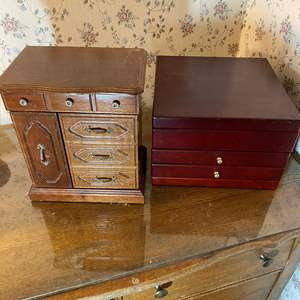 Lot # 450 - Two Jewelry Boxes With Contents