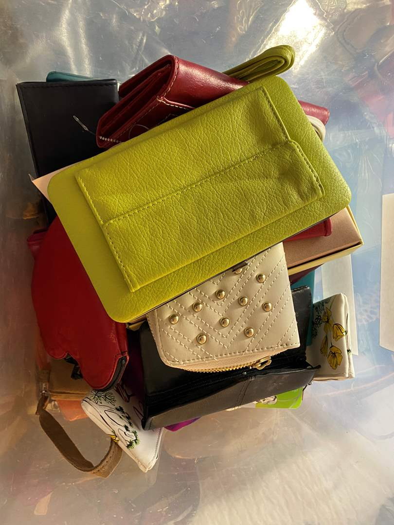 Lot # 457 - Tote Full of Wallets - Some NEW with Tags (main image)