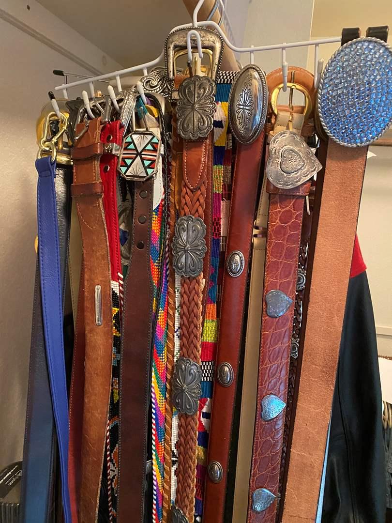 Lot # 463 - 3 Racks of Belts (main image)