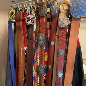Lot # 463 - 3 Racks of Belts