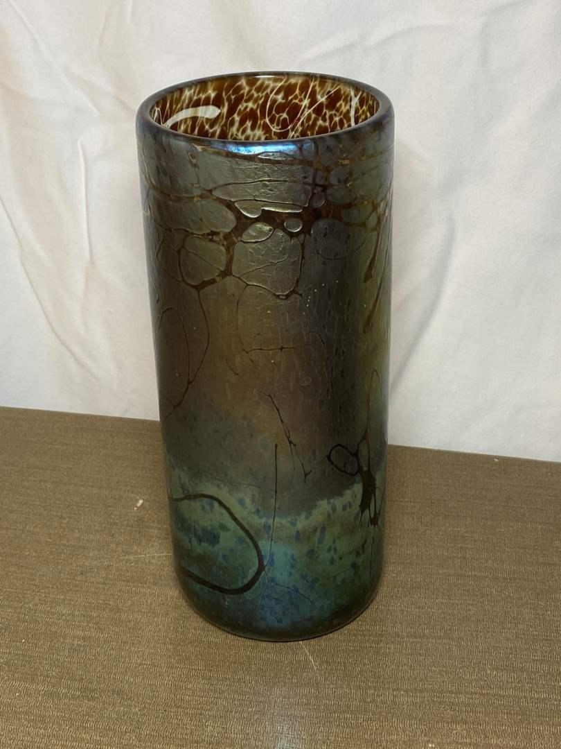 Lot # 474 - Harmony, CA Glass Vase  (main image)