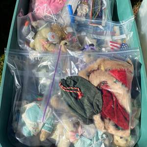 Lot # 575 - Extra Large Tote Full of Muffies and Muffy Outfits