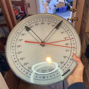 Lot # 490 - Clock & Triple Weather Gauge