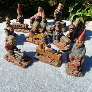 Lot # 578 - Tom Clark Vintage Train Gnomes - some are artist signed