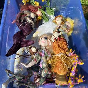 Lot # 582 - Totes Full of Dolls and Doll Parts