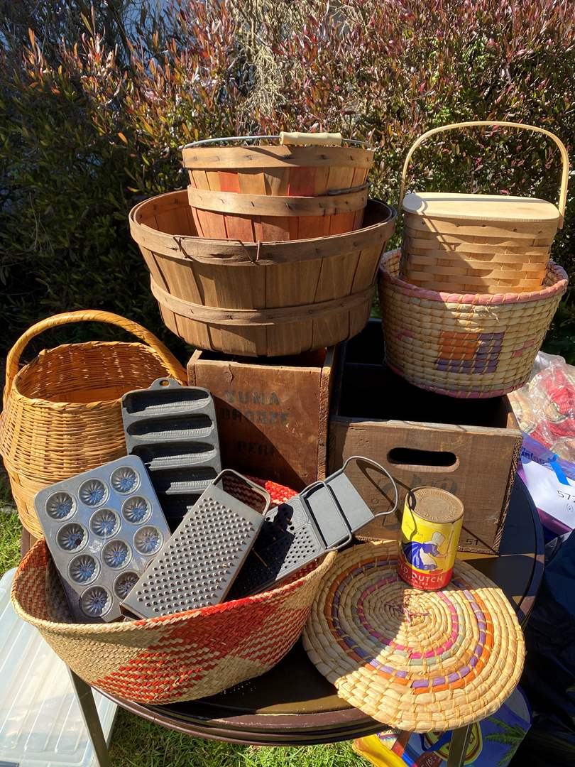 Lot # 584 - Baskets, Buckets and Other Vintage Items (main image)