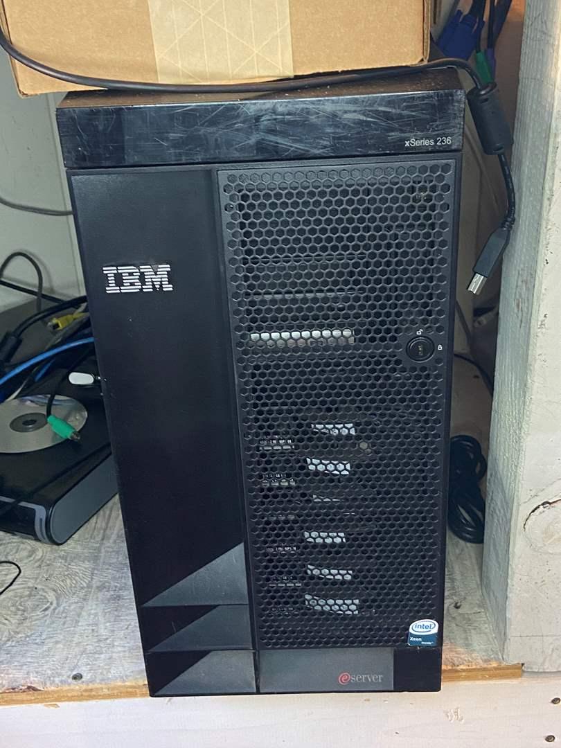 Lot # 587 - IBM eServer xSeries 236 with 4 Extra Hard Drives, APC UPS, HP1270 & LexMark Printer (main image)