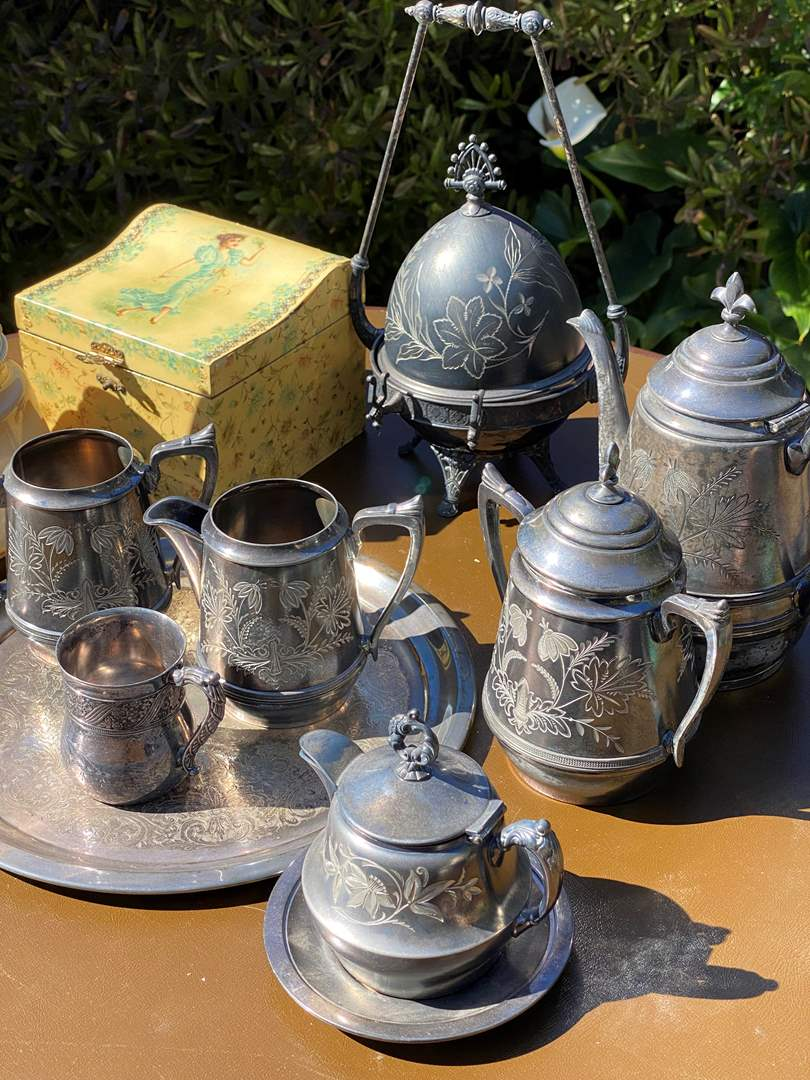 Lot # 547 - Antique Silver Plate & Weighted Sterling (main image)