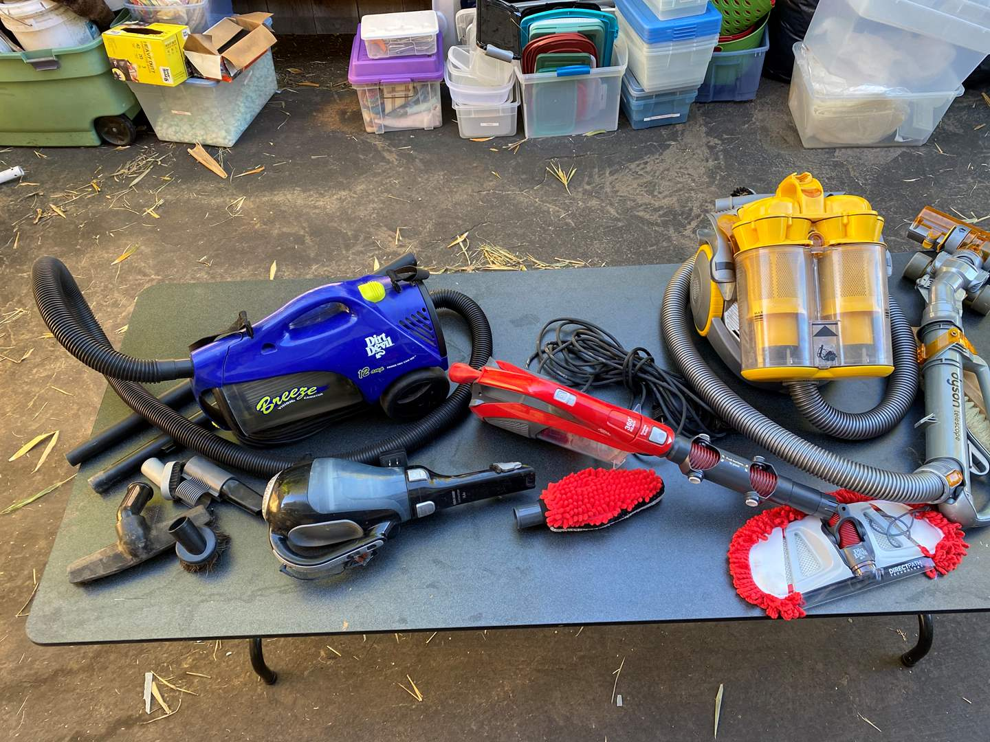 Lot # 556 - Dyson Telescope Vacuum Cleaner & others  (main image)