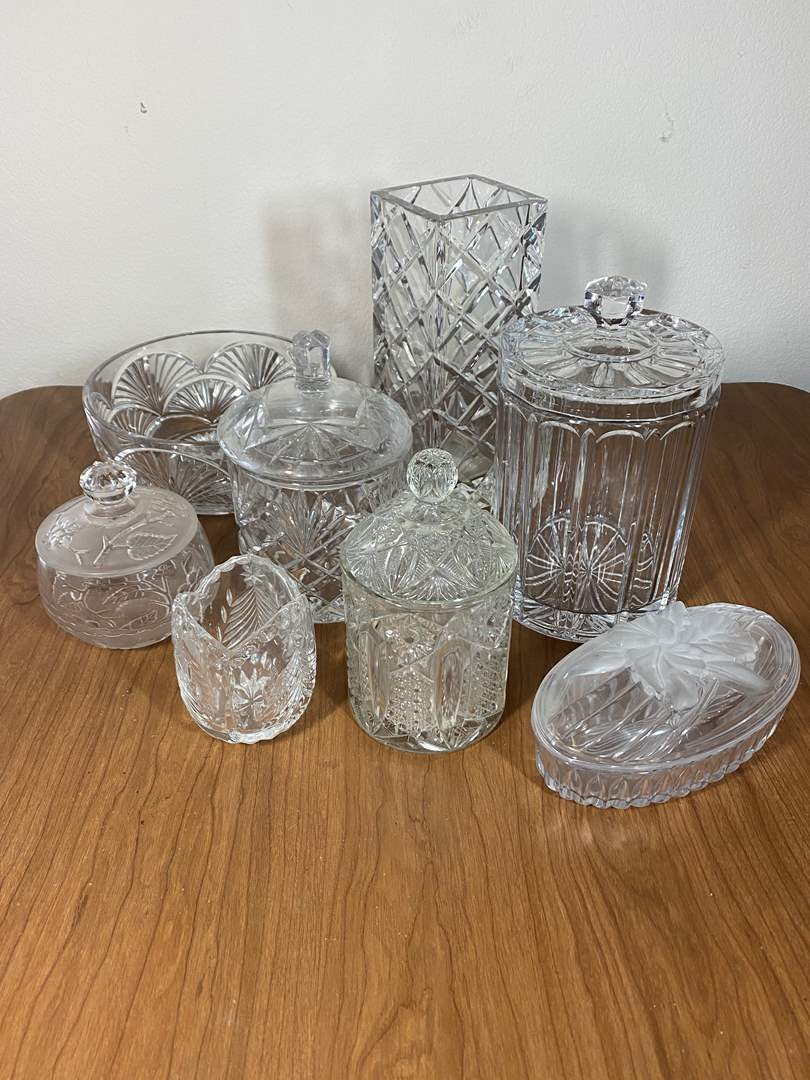 Lot # 630- Leaded Crystal and Pressed Glass Items (main image)