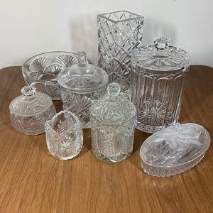 Lot # 630- Leaded Crystal and Pressed Glass Items