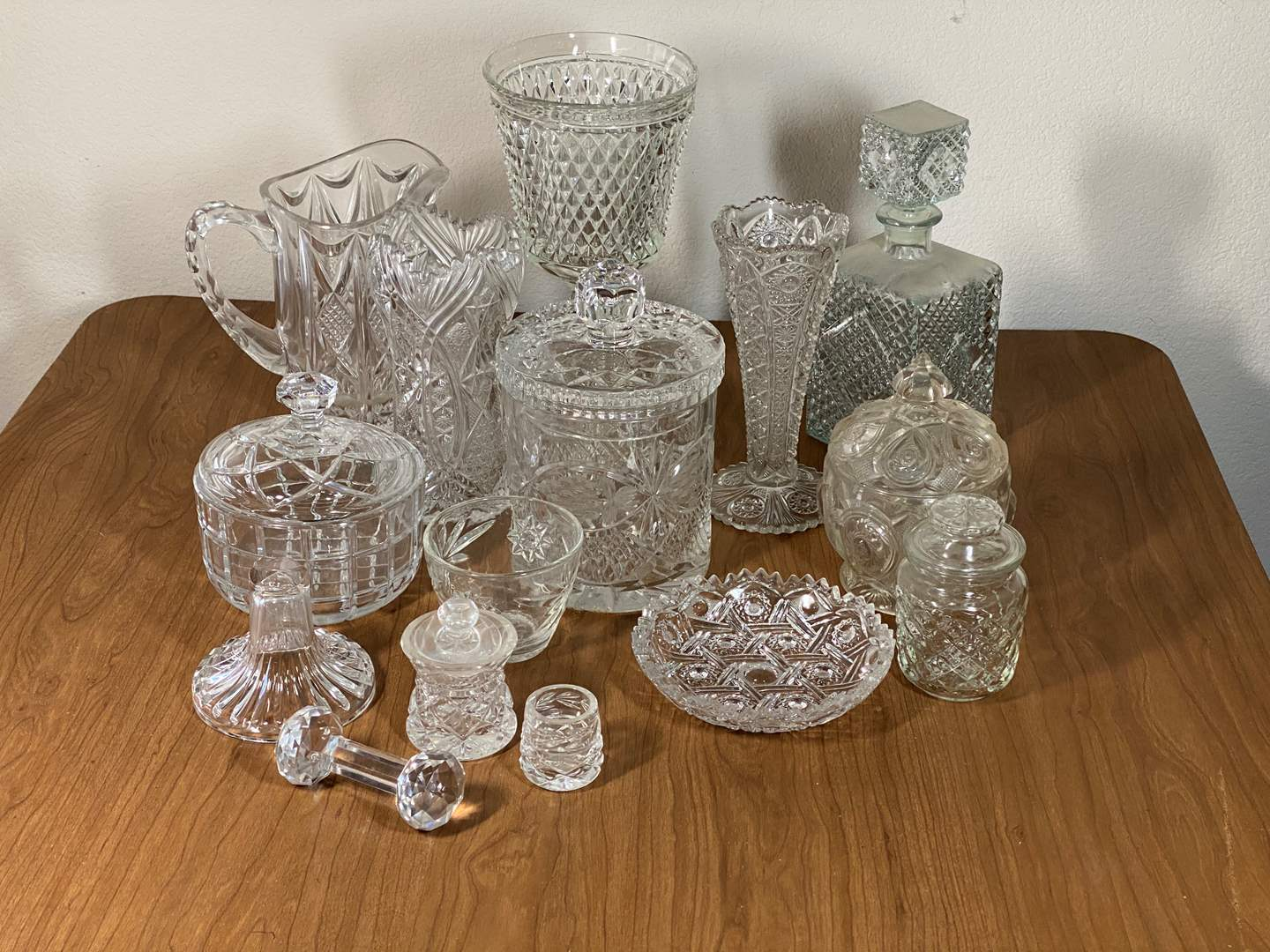 Lot # 631 - Leaded Crystal and Pressed Glass Items (main image)