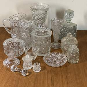 Lot # 631 - Leaded Crystal and Pressed Glass Items