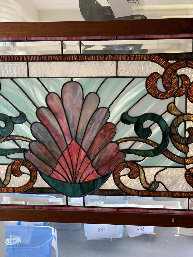 Lot # 634 - Exquisite Leaded Glass Window Pane (main image)