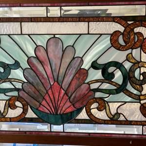 Lot # 634 - Exquisite Leaded Glass Window Pane