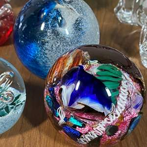Lot # 637 - International Hand Blown Glass Including Waterford Crystal
