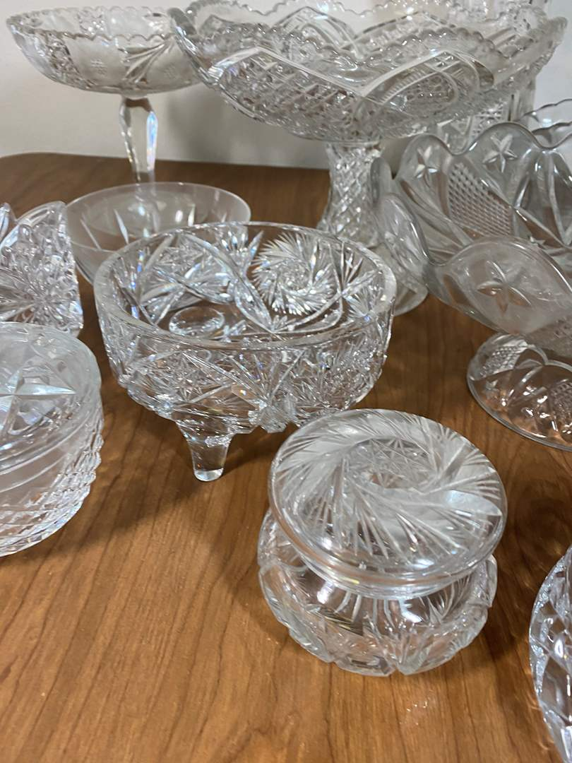 Lot # 640 - Leaded Crystal and Pressed Glass Items (main image)