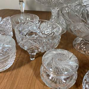 Lot # 640 - Leaded Crystal and Pressed Glass Items