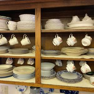 Lot # 642 - Various China Patterns - Two Cupboards Full