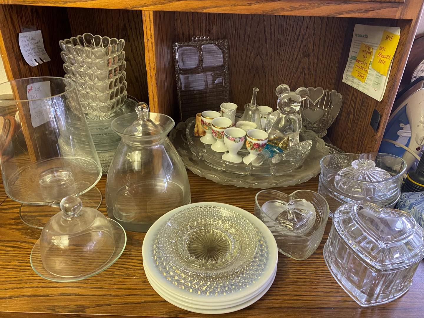 Lot # 646- Vintage Pressed Glass Items and Other Vintage Items (main image)