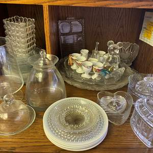 Lot # 646- Vintage Pressed Glass Items and Other Vintage Items