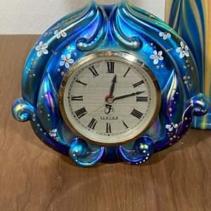 Lot # 647 - Fenton Glass Clock