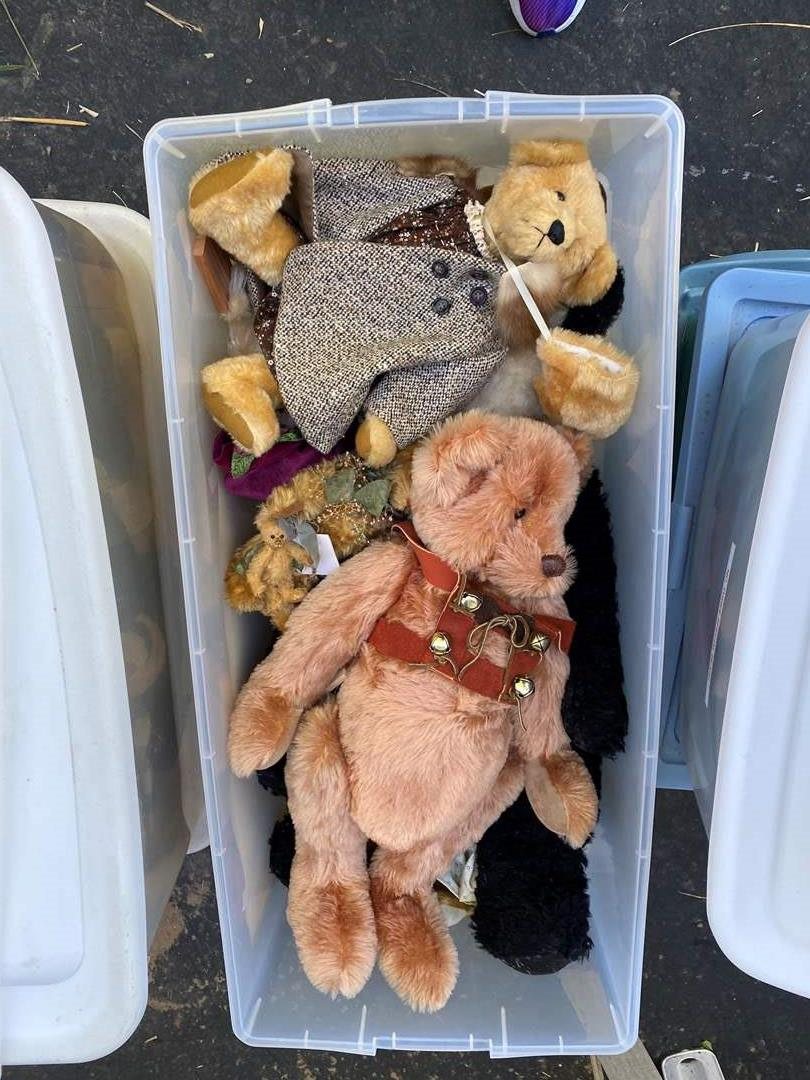 Lot # 11  - Extra Large Tote of Steiff Bears Collection and others (main image)