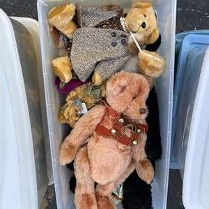 Lot # 11  - Extra Large Tote of Steiff Bears Collection and others