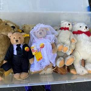 Lot # 13  - Extra Large Tote of Steiff Bears Collection and others