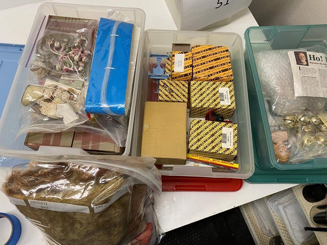 Lot # 54 - 3 totes of miniatures & supplies (main image)